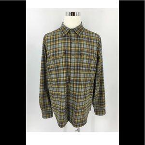 Marmot Men's Button Front Hiking Shirt Plaid Sz XL